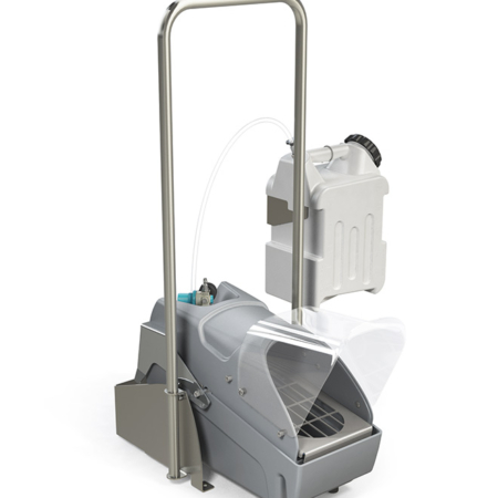 footwear sanitizing unit with handle